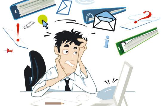 Stress am Schreibtisch